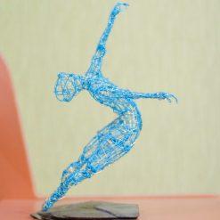 Dance Sculpture - Roll The Dice - Wire Sculpture 18