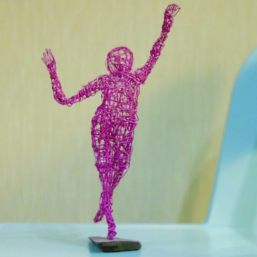 Dance Sculpture - Feels So Good- Wire Sculpture 4
