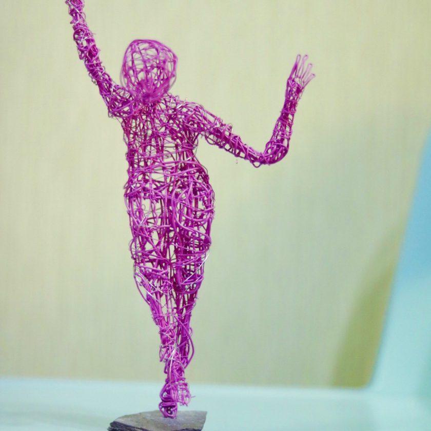 Dance Sculpture - Feels So Good- Wire Sculpture 6