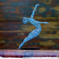 Dance Sculpture - Roll The Dice - Wire Sculpture 20