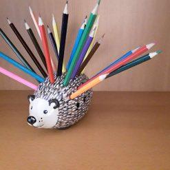 Ceramic hedgehog desk tidy
