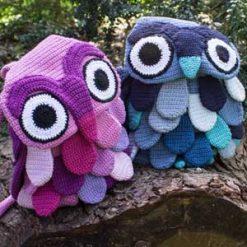 Owl Bag rucksack - crochet pattern
