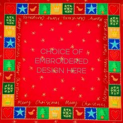 'Patchwork' Style ♥️ Soft Touch ♥️ FAMILY 💗 CHRISTMAS Cushion Cover ♥️ Exclusive EMBROIDERED Design ♥️ Quilted & Padded 7