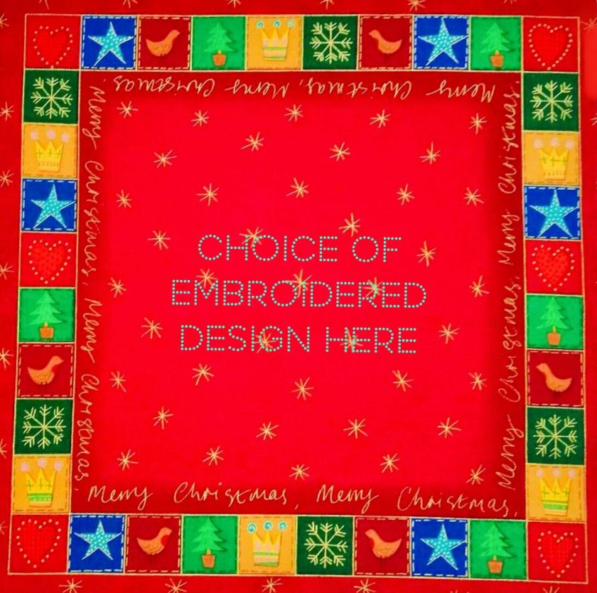 'Patchwork' Style ♥️ Soft Touch ♥️ FAMILY 💗 CHRISTMAS Cushion Cover ♥️ Exclusive EMBROIDERED Design ♥️ Quilted & Padded 2