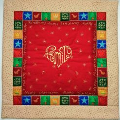 'Patchwork' Style ♥️ Soft Touch ♥️ FAMILY 💗 CHRISTMAS Cushion Cover ♥️ Exclusive EMBROIDERED Design ♥️ Quilted & Padded 10