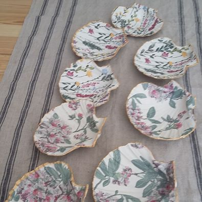 Jewellery storage - Decoupage scallop shell dishes 2