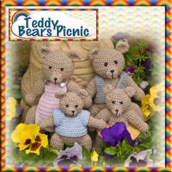 Teddy Bears Picnic - crochet pattern