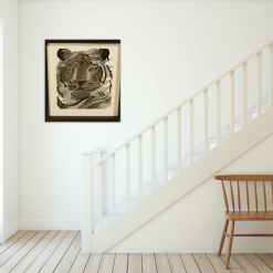 tiger thread painting.  Artwork.  Home decore 6