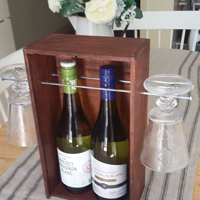 Wine bottle and glass holder 2