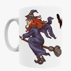 Witch on Broom Stick