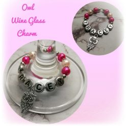 Handmade Personalised Wine Glass Charms