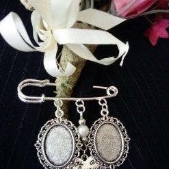 Bride/Groom Handmade Buttonhole, Bouquet, Lapel, Garter Cameo Memory Pin