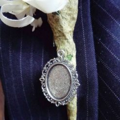 Bride/Groom Handmade Buttonhole, Bouquet, Lapel, Garter Cameo Memory Brooch