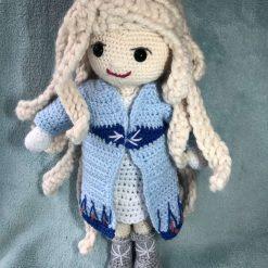 Handmade Elsa crochet doll