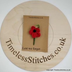 Lest We Forget Poppy Brooch – Small Bold Red Poppy to wear with pride.