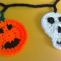 Halloween Skull and Pumpkin Bunting Crochet Kit