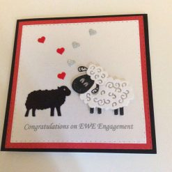 Handmade Congratulations on EWE Engagement Card