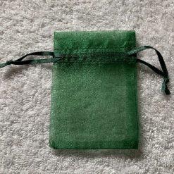 50 Christmas Green Small Organza Gift Bags 9