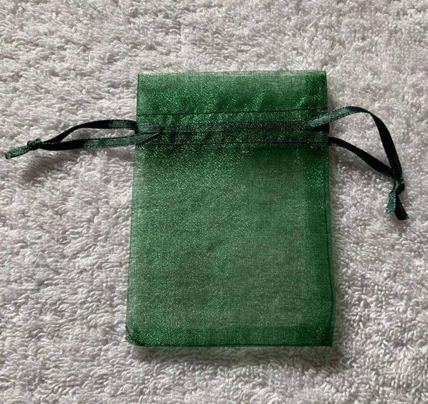 50 Christmas Green Small Organza Gift Bags 4