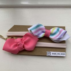 Boutike Bow - 2 points Pink