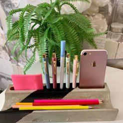 Desk Organiser, Concrete