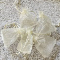 50 Ivory Cream Small Organza Gift Bags