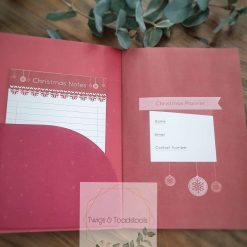 Personalised christmas planner 4
