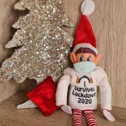 Christmas Elf Jumper and mask set - I survived lockdown 2020