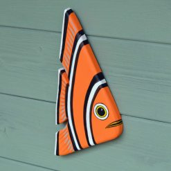 PAINTED FISH ON RECLAIMED WOOD