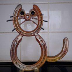 Horseshoe Art - Ginger Tom Cat