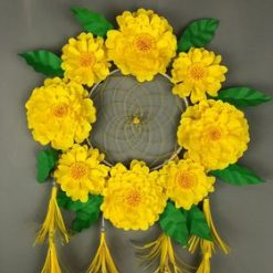 Paper flower Yellow Dream Catcher