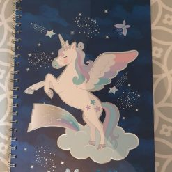 A4 Personalised Unicorn Hard Backed Lined Note Book