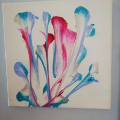 Red ,blue ,silver flower (Sold)