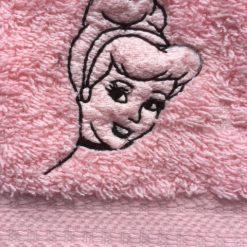 Personalised flannel/cloth, Cinderella face design, £4.45