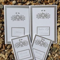 Wedding invitation - 2 doves design