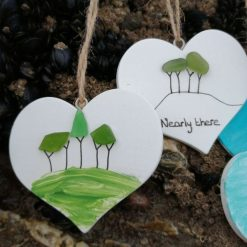 Cornish Tree Heart (white or handpainted) 3