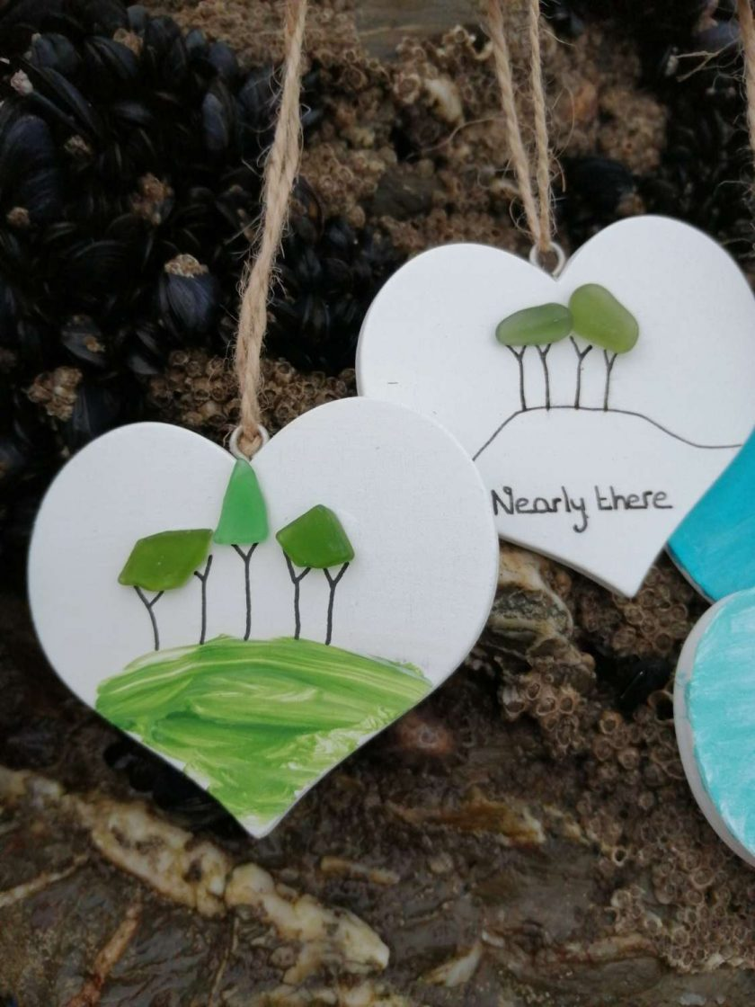 Cornish Tree Heart (white or handpainted)