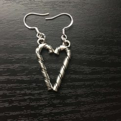 Christmas silver candy cane earrings 3
