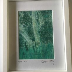 'Hedge Row ' - Original collagraph framed print (4) SOLD
