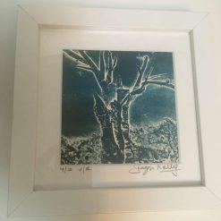 'Midnight Blues ' - Original collagraph framed print (4) / free p.p