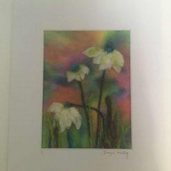 Colourful meadow flowers Needle felt wall art (2) /  free p.p