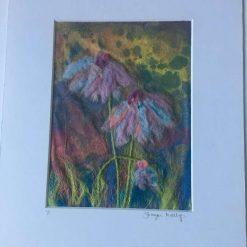 meadow flowers Needle felt wall art (3) / free p.p