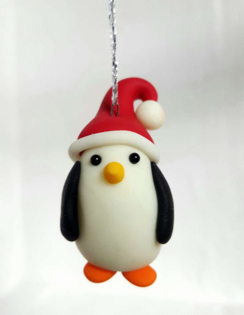 Penguin hanging ornament - glow in the dark - Christmas tree decoration