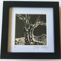 'Silent Night' - Original collagraph framed print (3) / free p.p