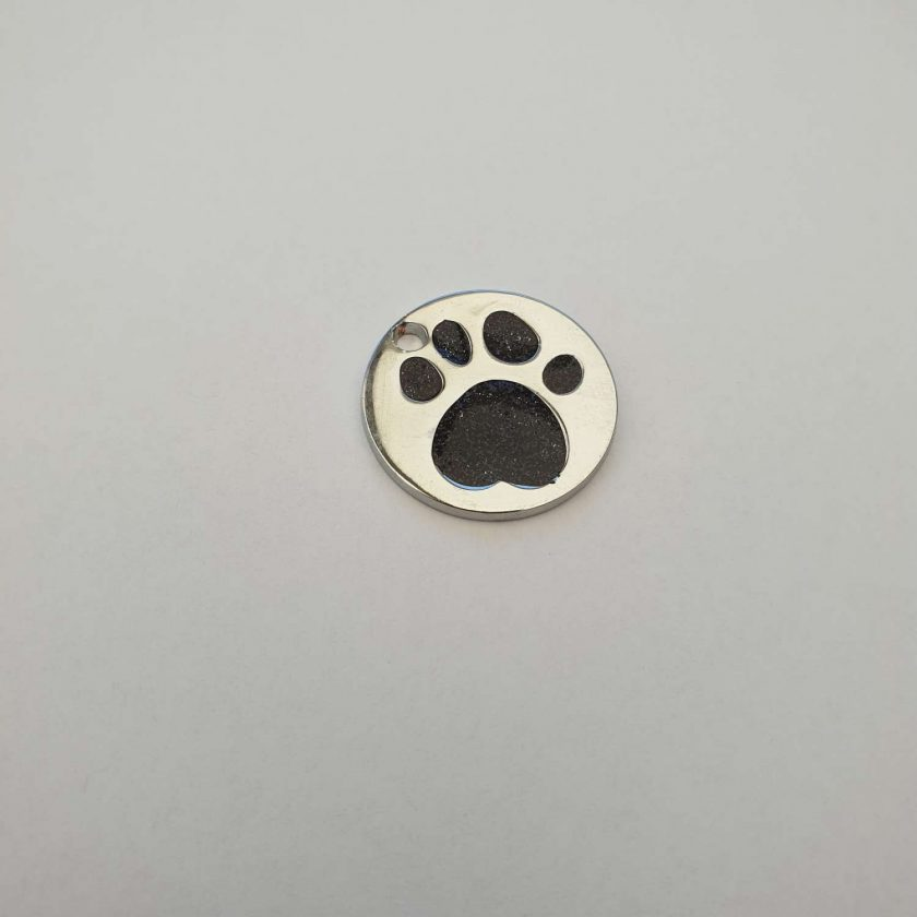 personalized engraved Dog ID tag dog tags glitter paw print reflective free 1st class postage 6