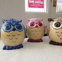 Hand painted ceramic owl money box