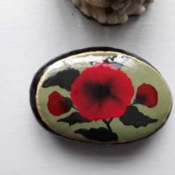 3rd hand painted poppy stone
