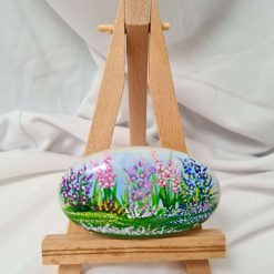 hand painted, Devonshire Cottage garden, in acrylic paint, paper weight, ornament, unique gift