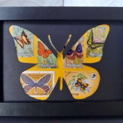 Framed Postage Stamp Art - Butterfly - 6 x 4""