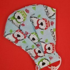 Winter dogs print, washable face mask/covering